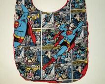 Superhero Baby Bib, Superman Bib, Toddler Bib, Baby Boy Bib, Feeding, Geek Baby, Birthday Gift, Minky Bib, Superhero Baby Shower, Baby Gift