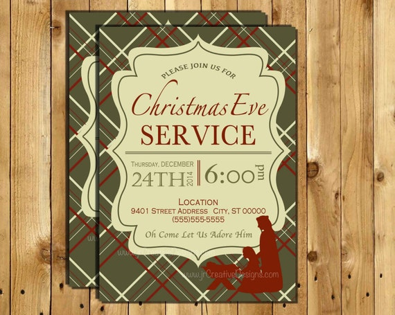 christmas eve service invitation christmas eve invite candle light