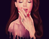 "Lana Del Rey Digital Art Print // Celebrity Artwork // Elizabeth Woolridge Grant // ""Plastic"""