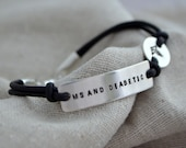 One Line Med Alert Bracelet - One Line - Customize with your personal information