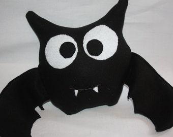 Bat Stuffed Animal, children's stuffed bat, made to order bat, plush fabric bat, soft bat, bat toy, bat pillow, bat decor, black