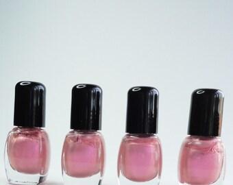 Nail Polish Pink Martini  Vegan nails 3 free indie nail polish