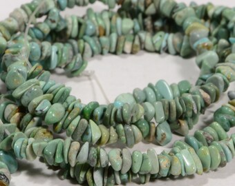 Turquoise Beads 4 to 7mm Chips Natural Gemstone Beads Jewelry Making Supplies