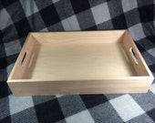 Unfinished  Wooden Serving Tray-unfinished wood box-ready to finish-engravable wood tray-personalized laser engraving