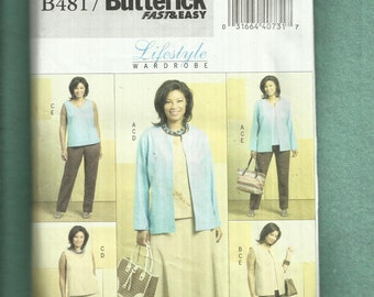 Butterick 4817 Easy Fitting Wardrobe Pattern Separates to Mix & Match Sizes 26W to 32W UNCUT