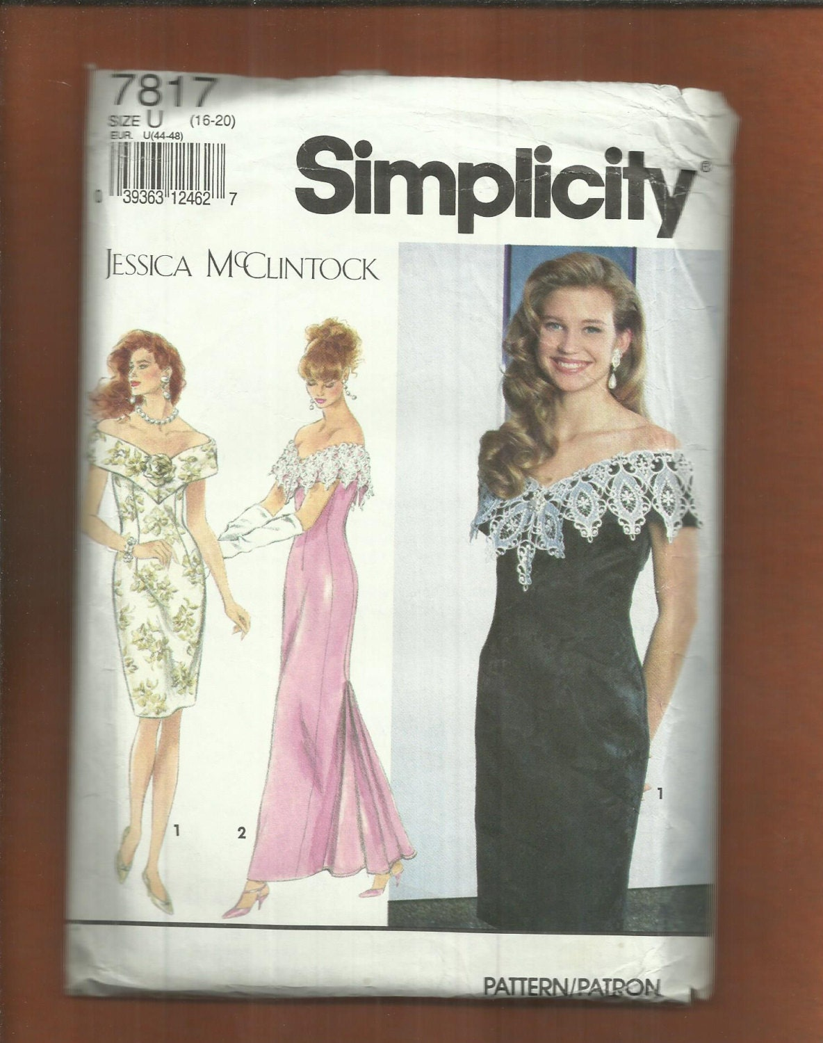 Simplicity 7817 Jessica McClintock Fitted Evening or Cocktail