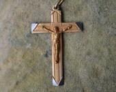 Vintage French Crucifix, vintage Catholic Jewelry, Catholic gifts