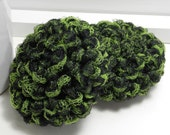 Hand Crochet Scrubbies - Dish Scrubber - Crochet Dish Scrubbies - Set of 2 Handmade Scouring Pads - Lime Green & Black