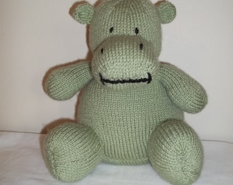 Knitted Green Hippo