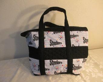 Pittsburgh Steeler handbag, quilted tote, bookbag, diaper bag.