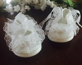 Christening Baptism Baby girl shies White Blessing or Christening Shoes, baptism baby girl booties, baptism shoes, lace shoes NARELO