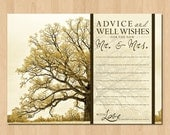 Wedding Advice Cards for the Mr. and Mrs. - Instant PDF Download DIY Printable
