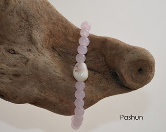 Seashell Jewelry … Beaded Shell Bracelet ... Yoga Stretch Bracelet (1310)