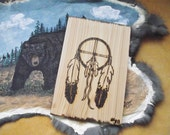 RESERVED for BJB - OOAK - Wood Burned Plaque on White Cedar - Medicine Wheel