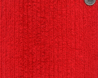 """56"""" Wide Cotton Chenille Red By the Yard"""