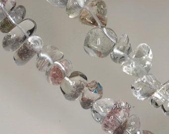 16x10-10x7mm Phantom Quartz Gemstone Pebble Nugget Loose Beads 7 inch Half Strand (90144057-B5-510)