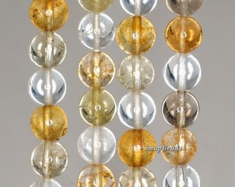 8mm Mix Quartz Gemstone Round Loose Beads 7.5 inch Half Strand (90191180-B28-549)