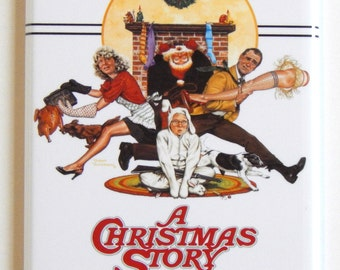 A Christmas Story Movie Poster Fridge Magnet