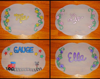 Personalized and Hand Painted Placemat