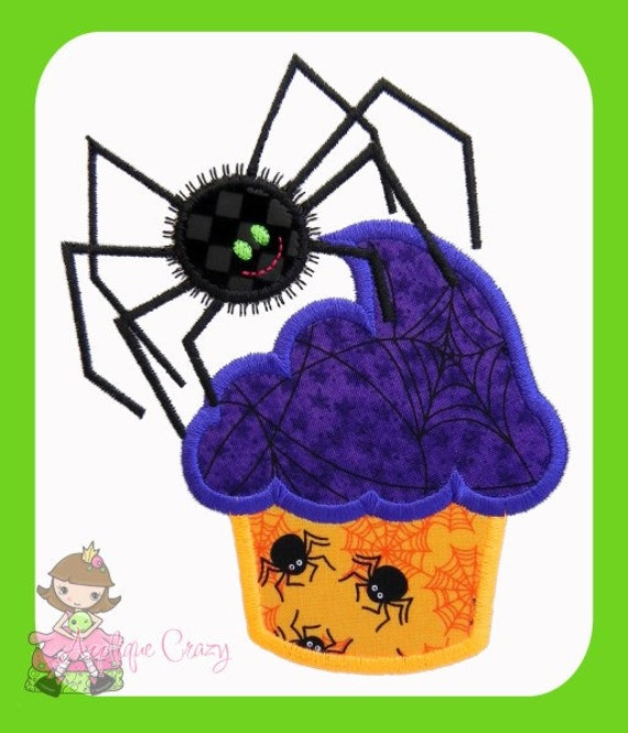 Halloween Spider Cupcake Applique design