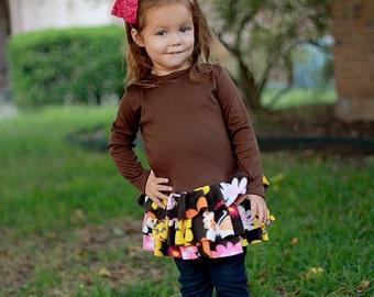 Sewing Pattern Knit Tunic, Girl's Top Pattern, Heidi Knit Ruffled Top, Fall Pattern