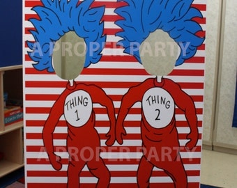 Thing 1 and Thing 2 - Thing 2 Thing 2 prop - Dr Seuss Party - Dr Seuss Birthday - Dr Seuss Decor
