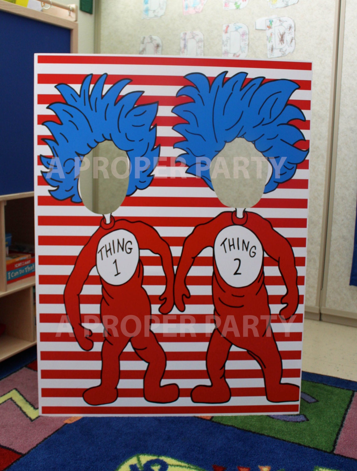 Christmas door decorating contest ideas - Thing 1 And Thing 2 Thing 2 Thing 2 Prop Dr By Aproperparty