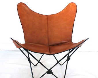 ORIGINAL Prima BKF Butterfly Chair in Premium Leather - Hardoy Sling Bonet Modern Chairs