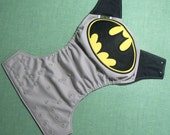 "Appliqued Cloth Diaper ""Batman"""