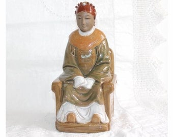 Vintage Chinese figurine, Seated Chinese Wise Man