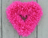 Red Heart Wreath - Valentine's Wreath - Pink Wreath - Heart Wreath - Outdoor Wreath - Door Wreath - Valentine Wreath - Winter Wreath