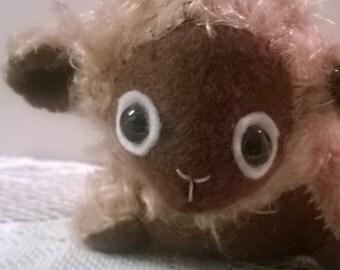 Mohair Little Lamb Artist Bear Brown Stuffed Animal Plush Plushie Soft Softie Cute Ooak Gift Hand-sewn Christmas