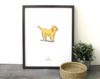 Golden Retriever Print