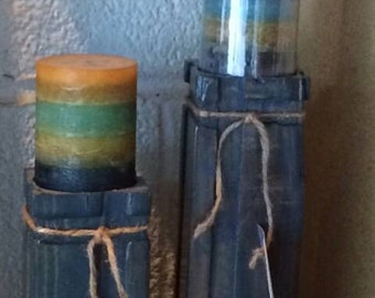Routed Pillar Candle Holder