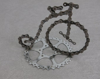 Bicycle Chain Penny Farthing Style Recycled Bike