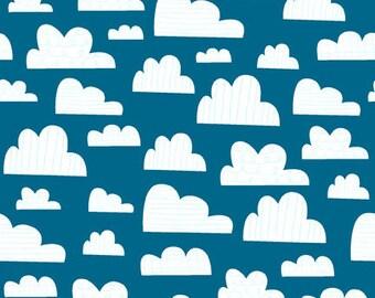 Wilmington Prints - On the Go - Sky - Dark Blue