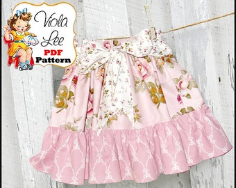 Shaylen.... Ruffled Twirl Skirt Pattern. Girl's Skirt Pattern. pdf Sewing Pattern, Ruffled Skirt Pattern. INSTANT DOWNLOAD