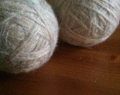 Dryer Balls Eco-friendly Felted Wool Set of 2- choose your color blue green white beige