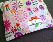 Natural Owie bags, Ouchie Bags, Hot/Cold Therapy Bags flaxseed Girl purple pink flowers