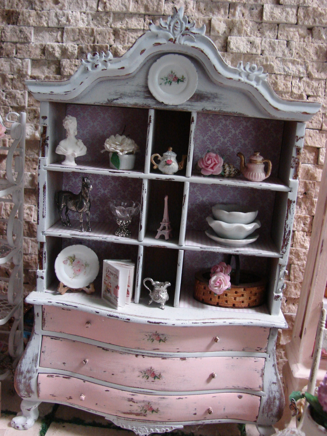 Pink French Armoire