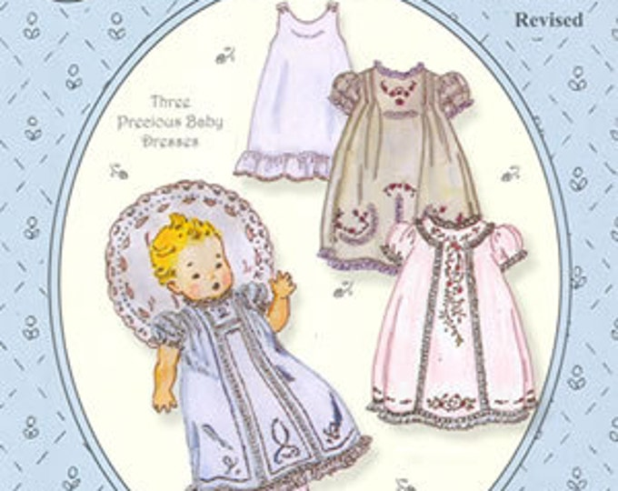 Baby Daydresses / Baby Day Dress Pattern / 3 Baby Dresses Pattern  / Slip Pattern /  by The Old Fashioned Baby