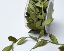 Olive Ribbon. Green  Leaf Ribbon. Wedding Favors  Bow Supplies DIY Wedding Gift Wrap Favor Box Ribbon Craft Sewing DIY Wedding Bouquet