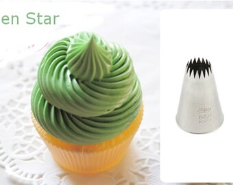 FRENCH TIP Number 9  professional grade pastry tip. Stainless steel . Perfect for cupcake piping. #9 Oversized French Tip.