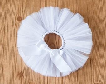 White tutu 'Breanna' white flower girl tutu wedding tutu girls tutu photo prop birthday tutu skirt size 5 6 7 8 10 12 halloween tutu ghost