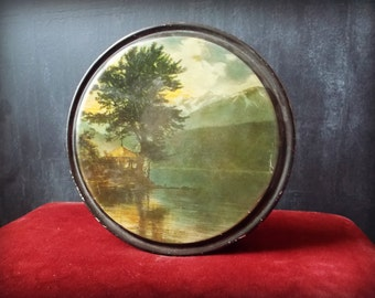 Vintage Lake Chelan Washington Litho Tin