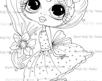 INSTANT DOWNLOAD Digital Digi Stamps Big Eye Big Head Dolls Digi Scan0001 2 Little QT Besties By Sherri Baldy
