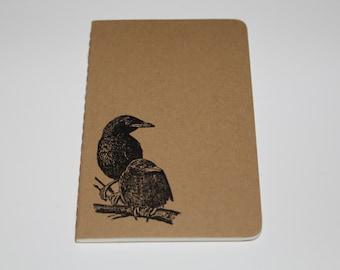 Mini Black Crow Raven Journal Pocket Pad