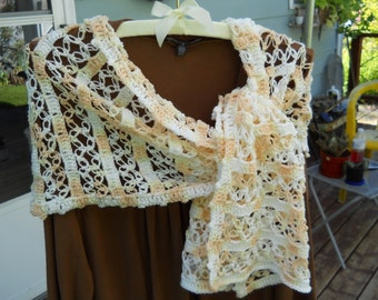 Ready to Ship Immediately, Lacy scarf, shoulder wrap, light weight, lacy,