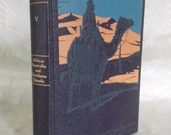 "Vintage book ""Lands and Peoples Volume V"" editied by Gladys D. Clewell"