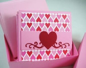 3 x 3 Mini Card Gift Set - 12 Cards and Envelopes in a gift box, lunch box notes